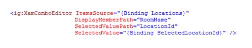 xamComboEditor SelectedValue/SelectedValuePath binding