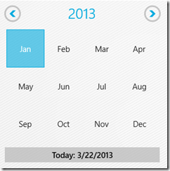 NetAdvantage for Windows UI - Calendar