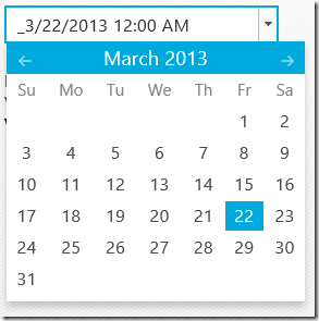 NetAdvantage for Windows UI - Date Picker