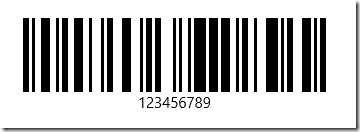 Infragistics UWP Preview - 128 barcode