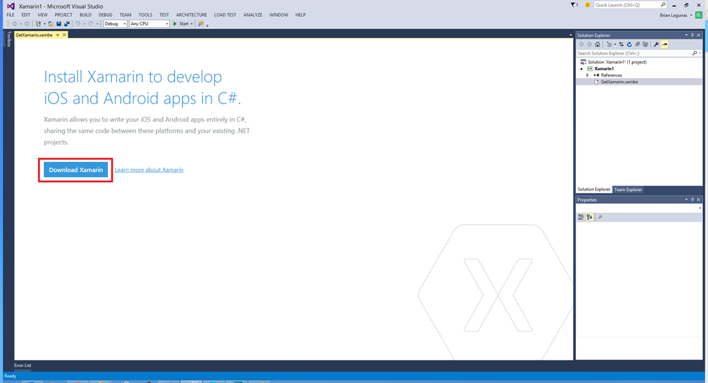 Installing Xamarin for Visual Studio 2015 Preview Side by