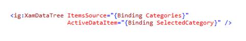 xamDataTree ActiveDataItem binding