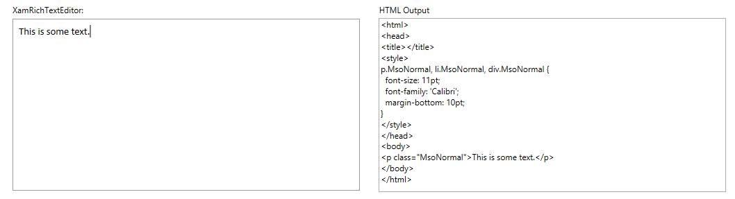 xamRichTextEditor HTML support