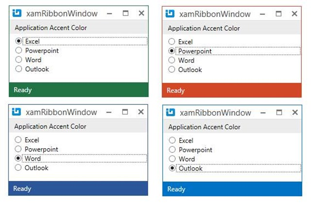 xamRibbonWindow accent color