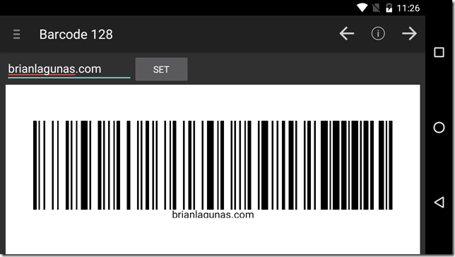 android code 128 barcode