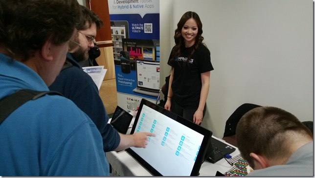 The Planar Helium in action at the Infragsitics booth at Boise Code Camp