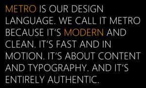 Microsoft's Metro statement