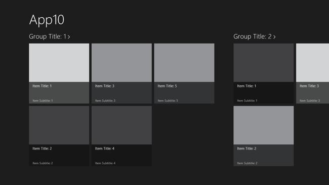 Grid template thumb
