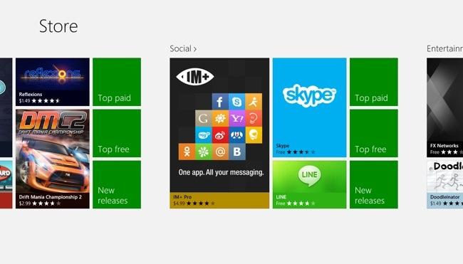 Windows Store Hub Social