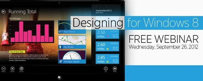 Designing for Windows 8 Webinar Banner