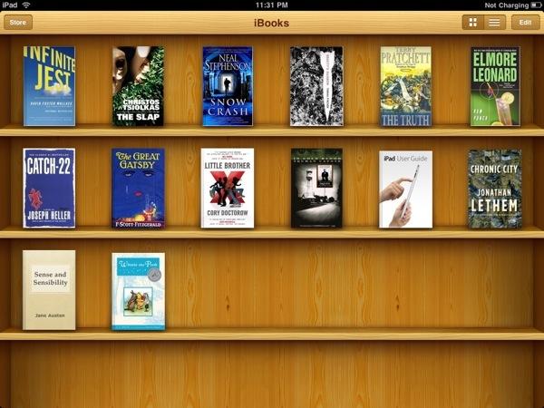 Ibooks shelf