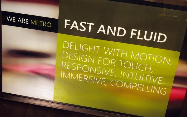 Microsoft Metro  Fast and Fluid