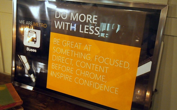 Microsoft Metro  Do More with Less