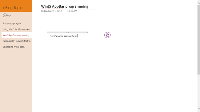 OneNote Radial unopened