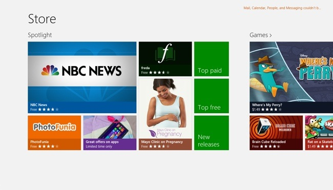 Windows Store Hub