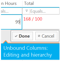 IgniteUI jQuery Grid Unbound Columns: Updating and Hierarchy