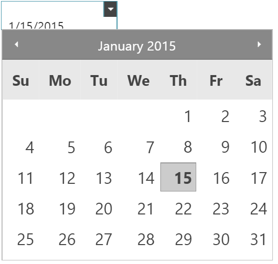 Theming and Customization jQuery Date Picker Control | Infragistics Blog