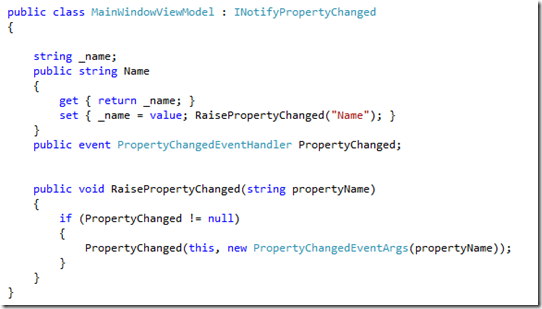 Implementing-INotifyPropertyChanged-MVVM