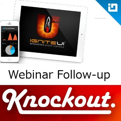 Building Databound JavaScript Apps with KnockoutJS, webinar follow-up