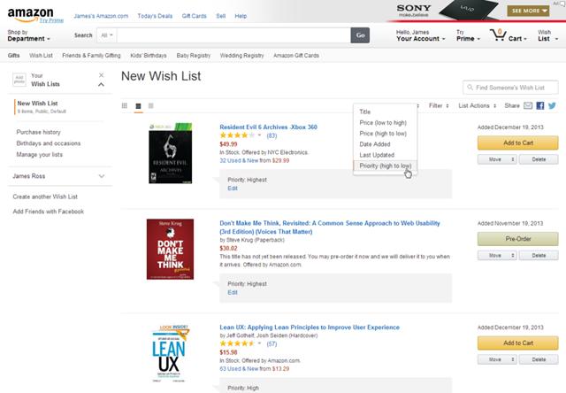 Amazon's Wish List Problem | Infragistics Blog