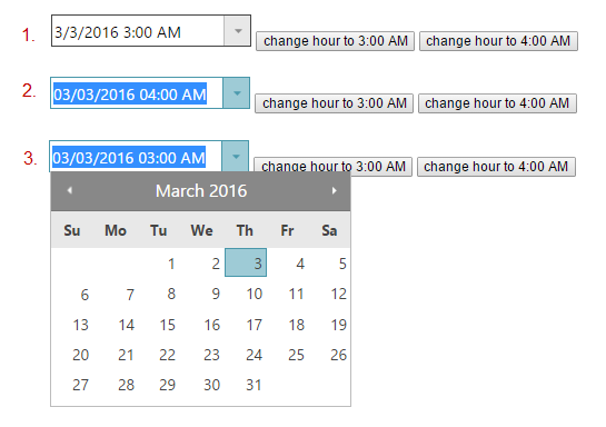 DatePicker loses time change on dropdown of calendar