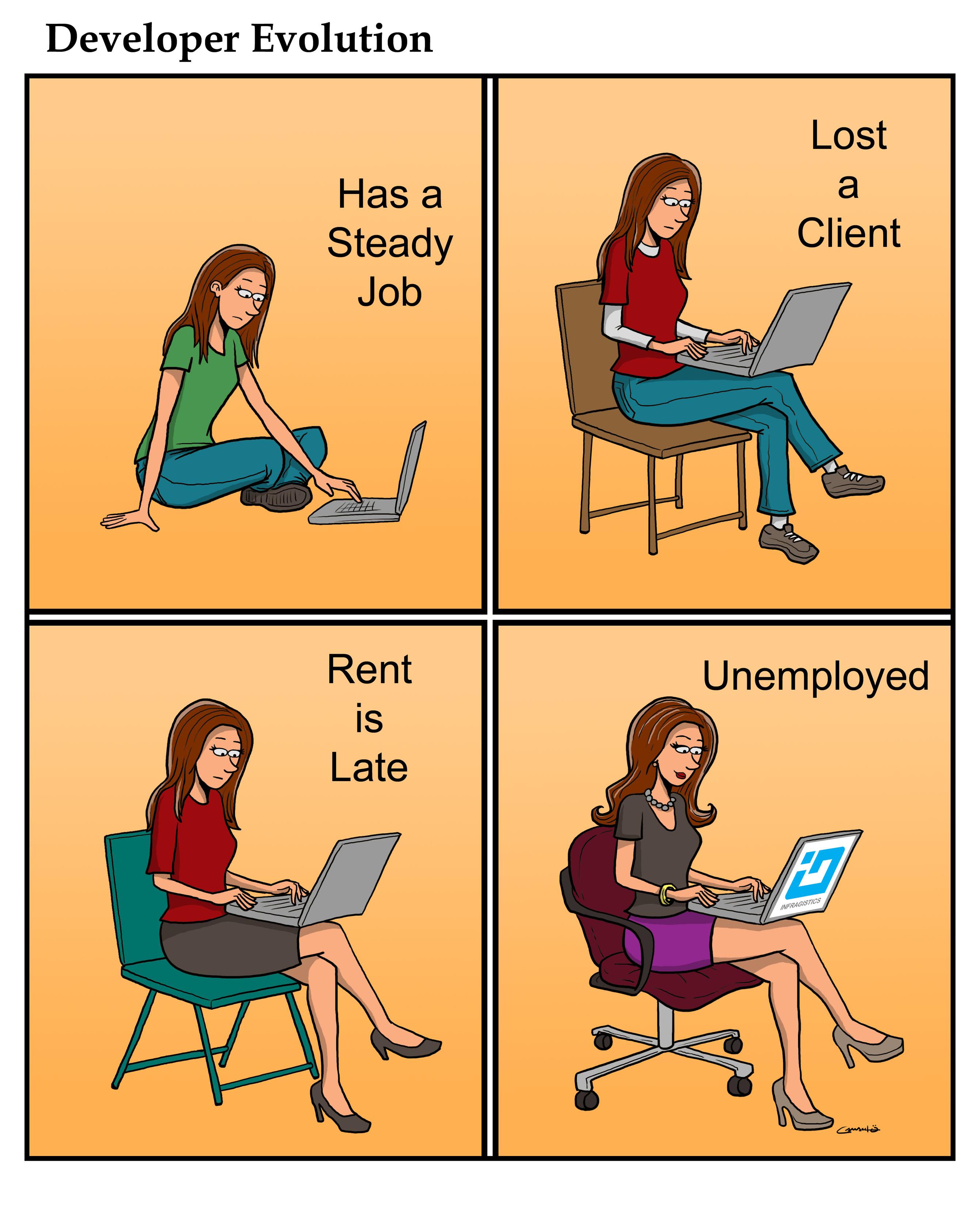developer humor developer evolution