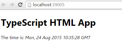Figure 5: Simple HTML with TypeScript application in browser