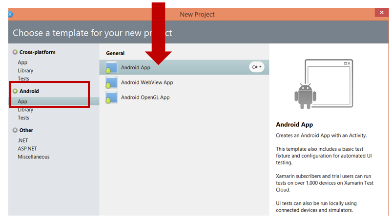 how to create a new app