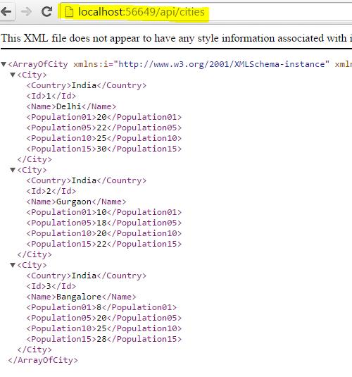 Creating an ASP.NET Web API using the Entity Framework