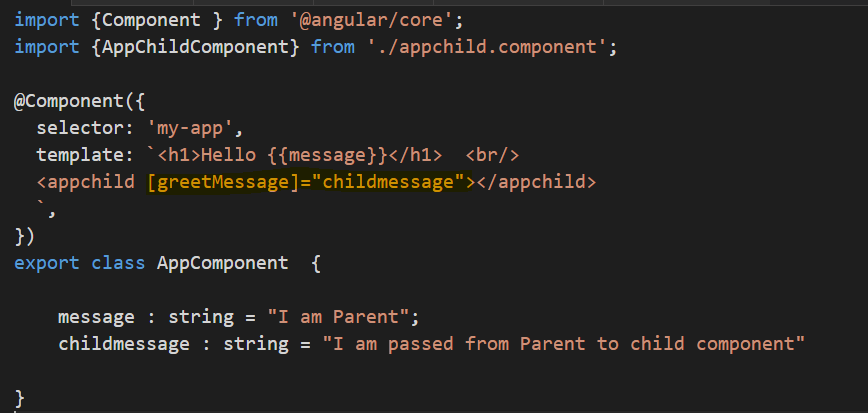 Communication Between Components Using @Input() in Angular 2