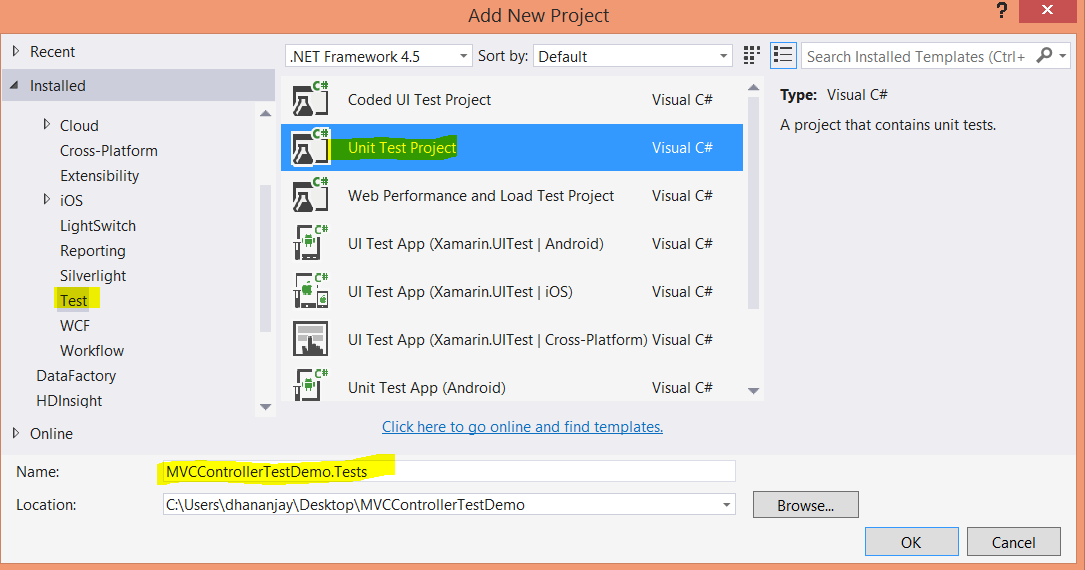 Creating Unit Tests for ASP NET MVC Controllers | Infragistics Blog