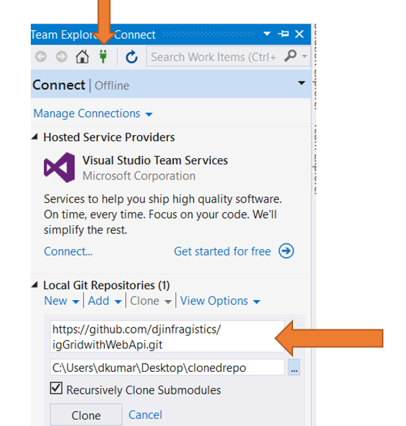 Step by Step working with GitHub Repository and Visual Studio 2015