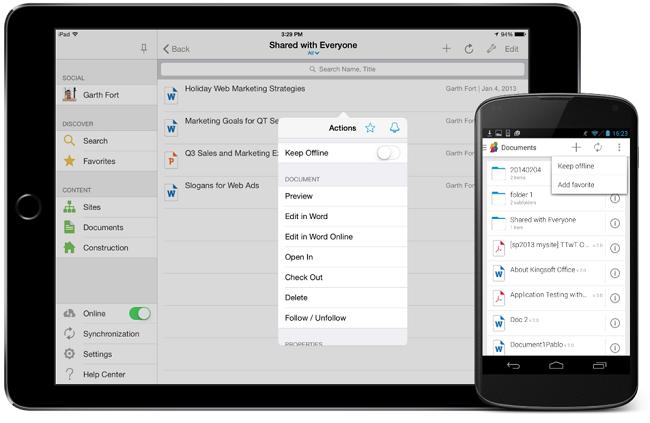 Access OneDrive for Business through SharePlus
