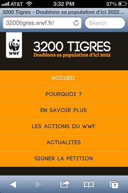 320 pixel width view of 3200tigres.wwf.fr