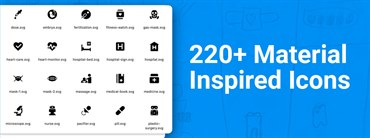 220+ Material Inspired Icons for Great User Experience