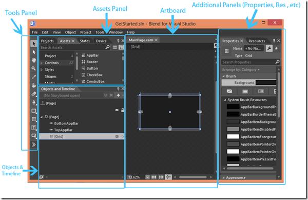 Blend for Visual Studio Workspace (XAML) | Infragistics Blog