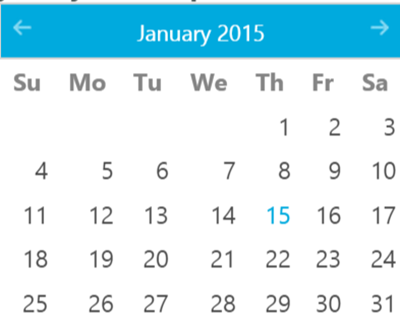 Theming and Customization jQuery Date Picker Control