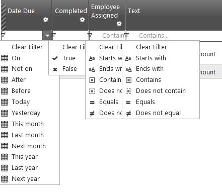 Filter selector stays open on internet explorer