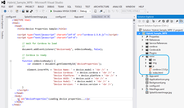 Building Windows Phone Application using PhoneGap