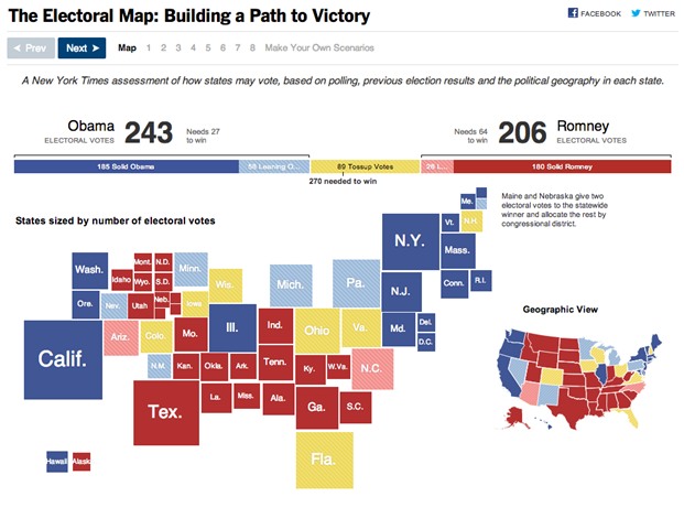 Top 5 Interactive Graphics of the 2012 Presidential Election ...