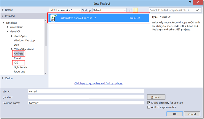 Installing Xamarin for Visual Studio 2015 Preview Side by Side with