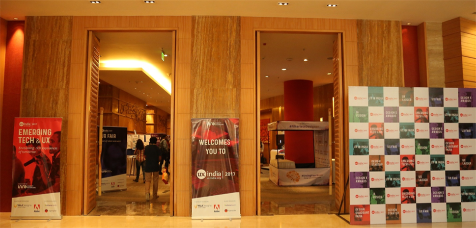 The entrance of the conference venue