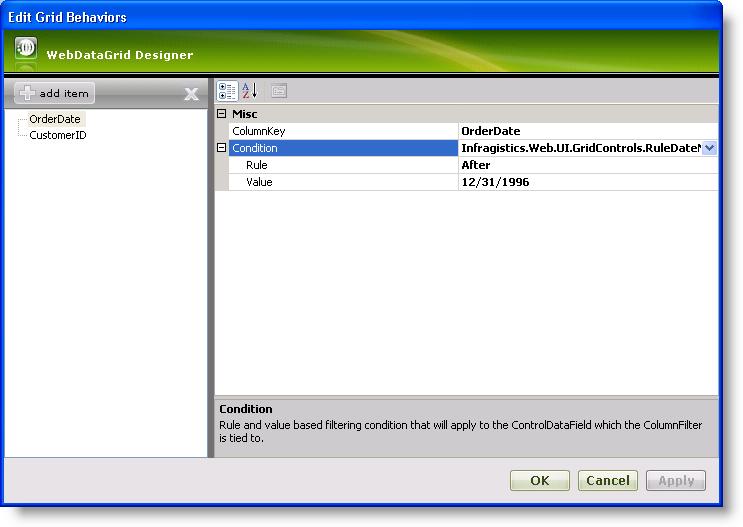 Filtering - Infragistics ASP NET™ Help