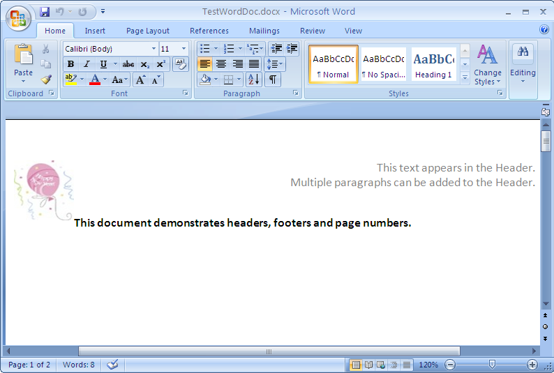 Word Headers Footers And Page Numbers 01