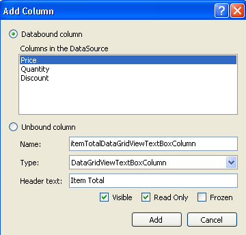 Creating a Calculated Column in the DataGridView Control