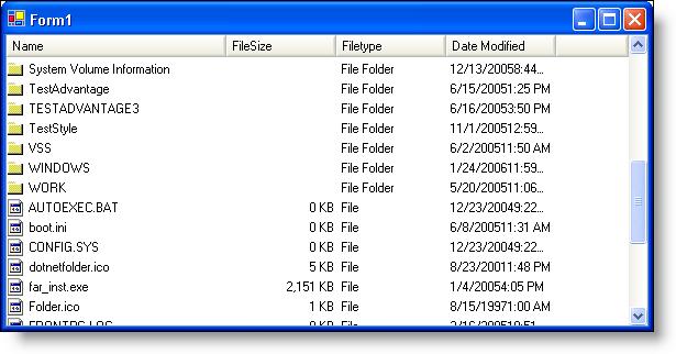New WinListView Control - Infragistics Windows Forms™ Help