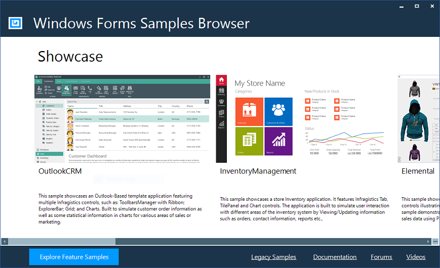 Ultimate UI for Windows Forms Samples - Infragistics Windows ... on c# form example, word form example, java form example, art form example, photography form example, insurance form example, web form example, wordpress form example, excel form example, business form example, google form example,