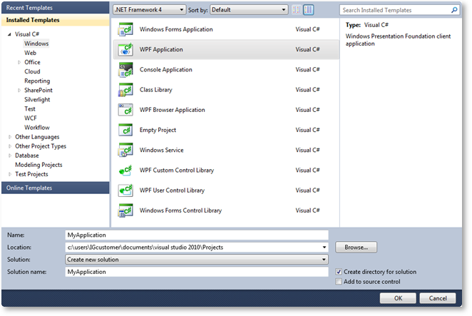 Adding an Assembly to a Visual Studio Project - Infragistics WPF™ Help