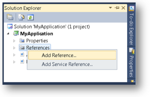 Adding an Assembly to a Visual Studio Project - Infragistics