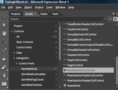 Editing Style Properties Using Expression Blend